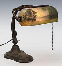 Handel Obverse Pained Desk Lamp
