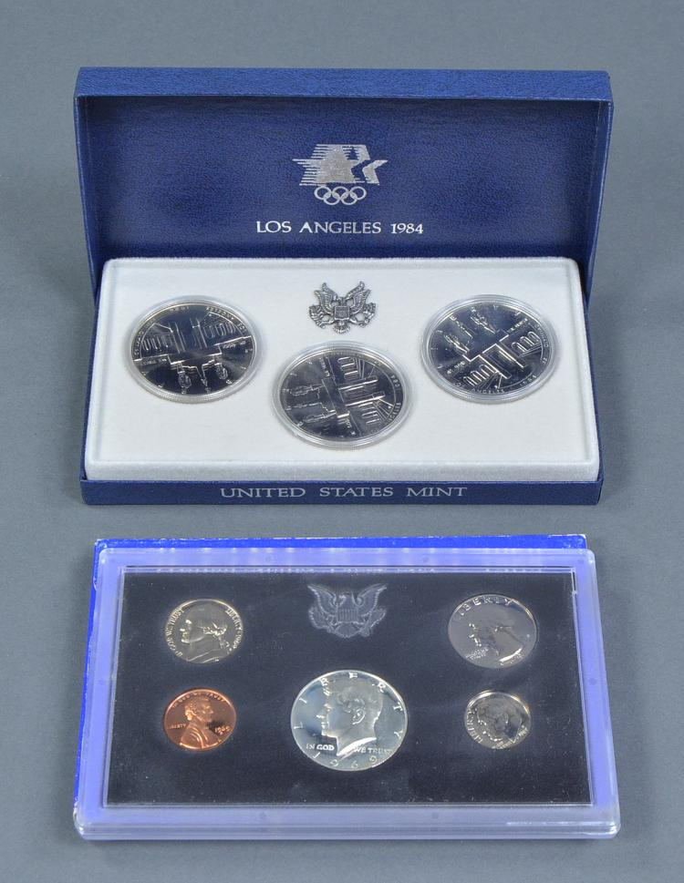 1984 Olympic 3-Coin Silver Dollar Set