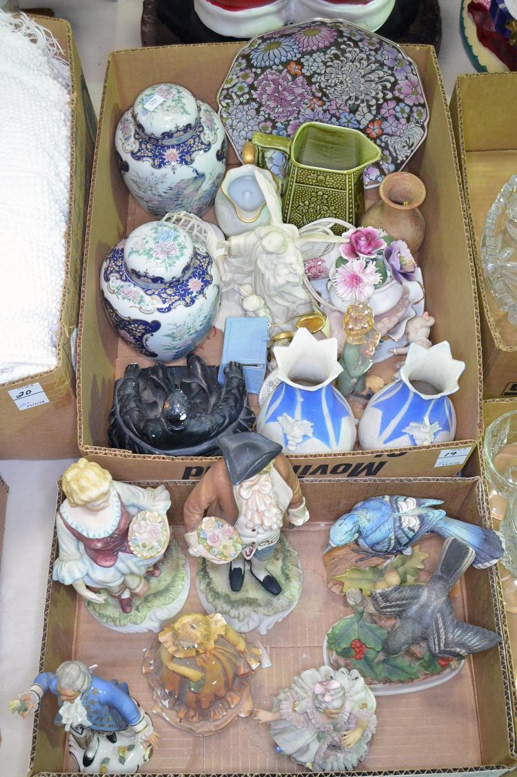 Two Bxs Figurines, Vases & Decorative Items