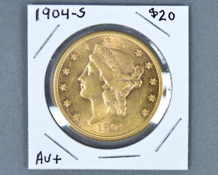 Lovely 1904-S Liberty $20 Gold Coin