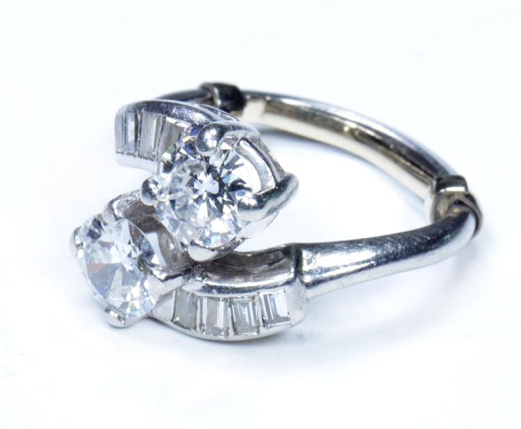 Bypass Diamond & Platinum Ring