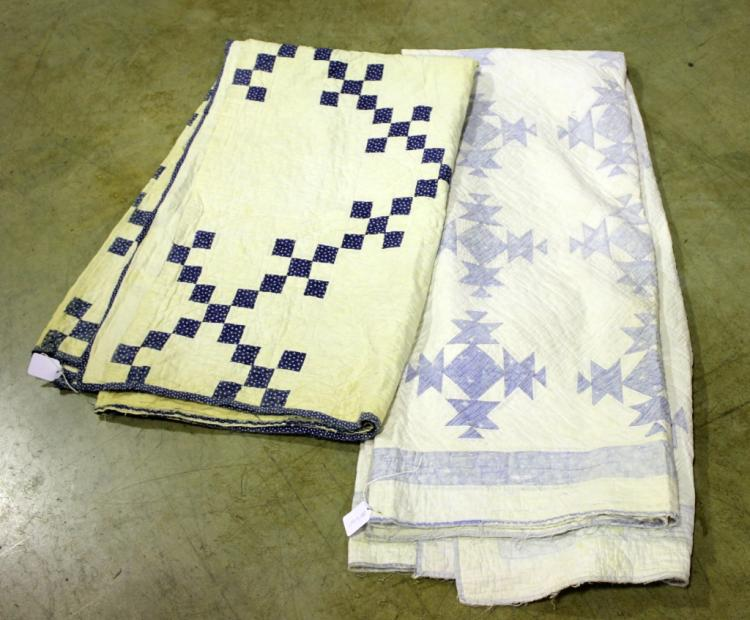 Two Blue & White Quilts
