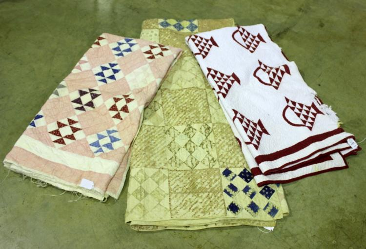 Three Hand Stitched Quilts