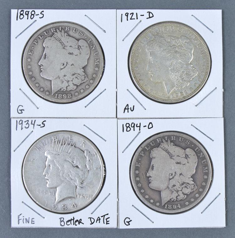 Four Better Date Silver Dollars