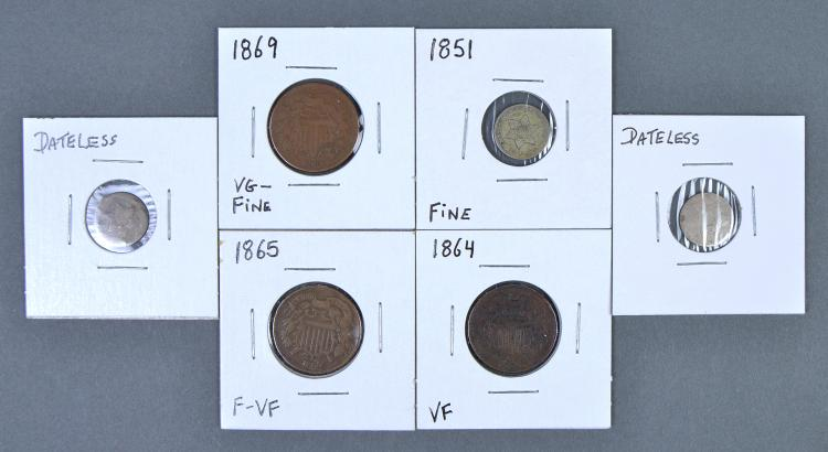 Group of Obsolete Coins