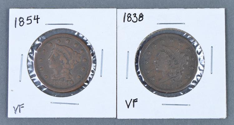 Two Matron Head Large Cents