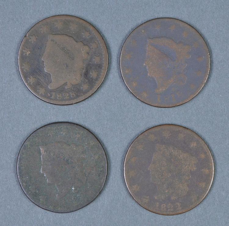 Four Matron Head Large Cents