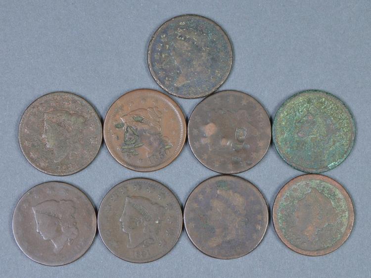 Nine Large Cents