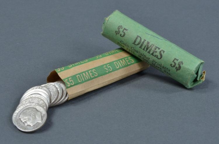 Two Rolls of Silver Dimes