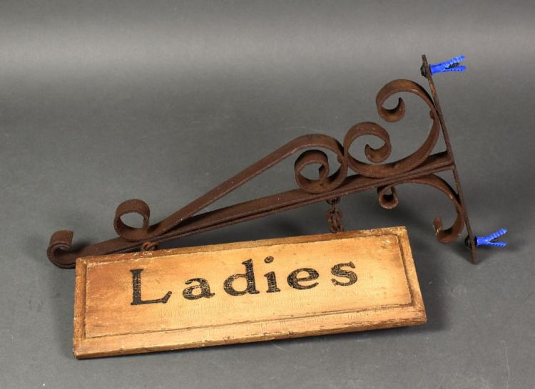 Ladies Rest Room Sign