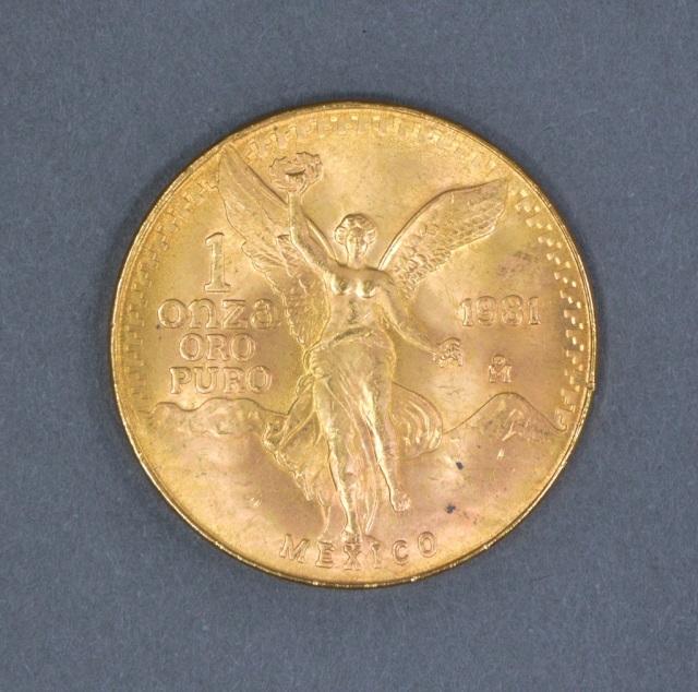 1981 Mexican 1 oz. Gold Libertad (Coin)