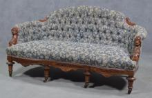 Sofa with Carved Arms