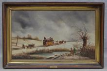 Edmund Aulburton Van Willis Oil on Canvas