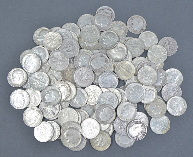 114 Silver Roosevelt Dimes