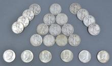 Group of Silver 90% Walking Liberty Halves