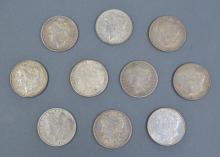 Ten Morgan Dollars