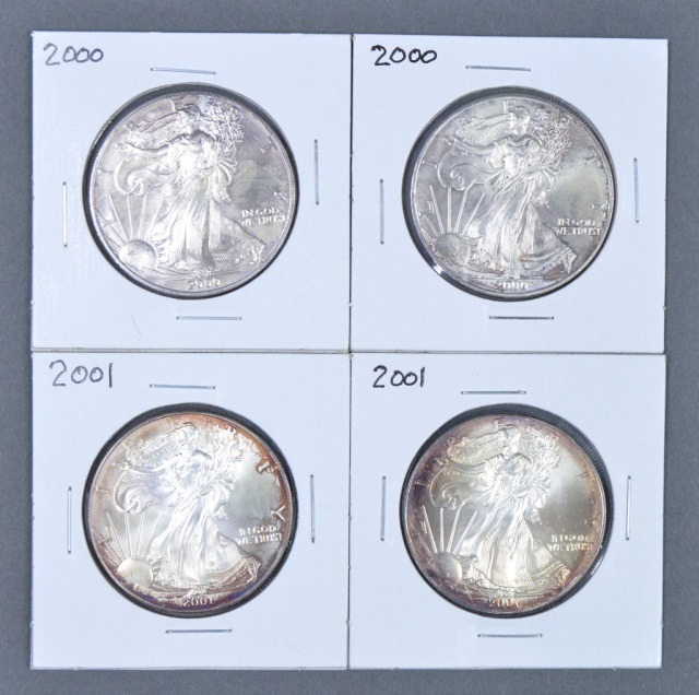 Four Silver Eagles