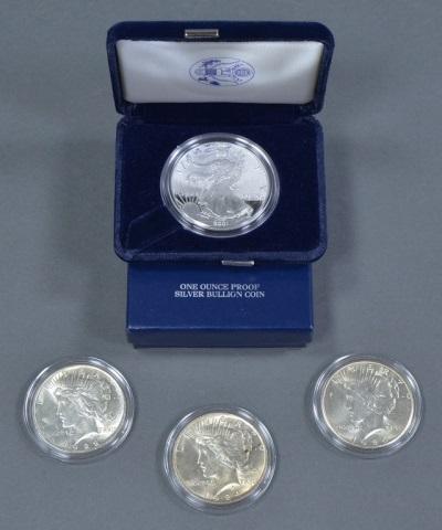 Three Nice BU Peace Dollars