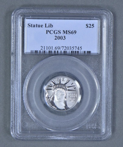 1/4 oz. Platinum $25 Coin
