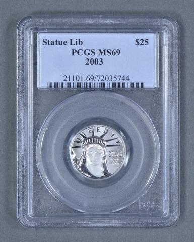 1/4 oz. Platinum $25 Coin