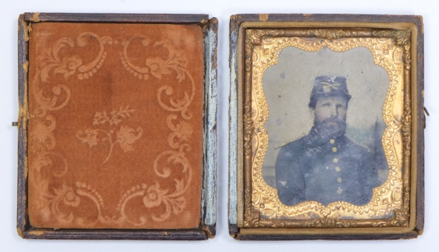 1/6th Plate Tintype of Cavalry Man