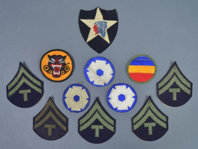 11 WWII Military Patches