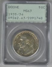 1935/34 Boone Commemorative Silver Half Dollar