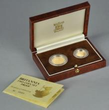 1987 Gold Britannia 2 Coin Proof Set