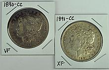 Two Better Date Morgan Dollars