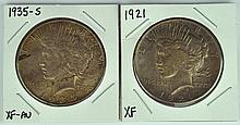 Two Better Date Peace Dollars