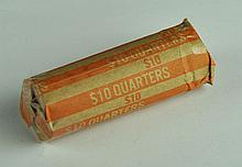 Roll of Circulated Washington Quarters