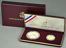 1988 Two-Coin Olympic Commem. Coin Set