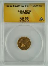 1912 Gold Indian $2 1/2 Coin