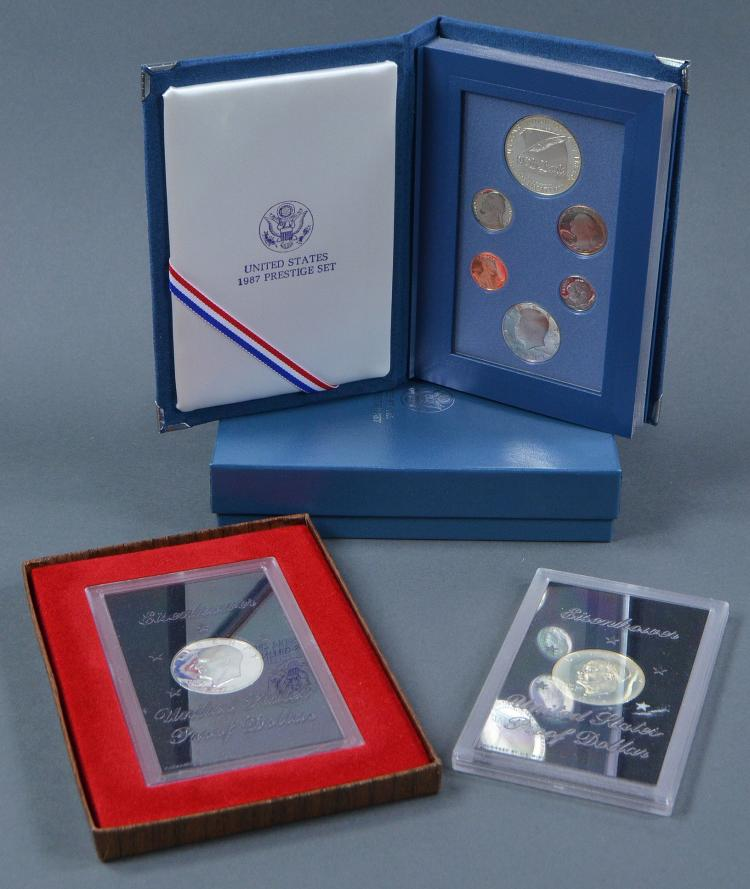 1971-S & 1974-S Proof Eisenhower Silver Dollars