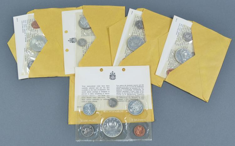 Five 1965 Canadian Mint Sets