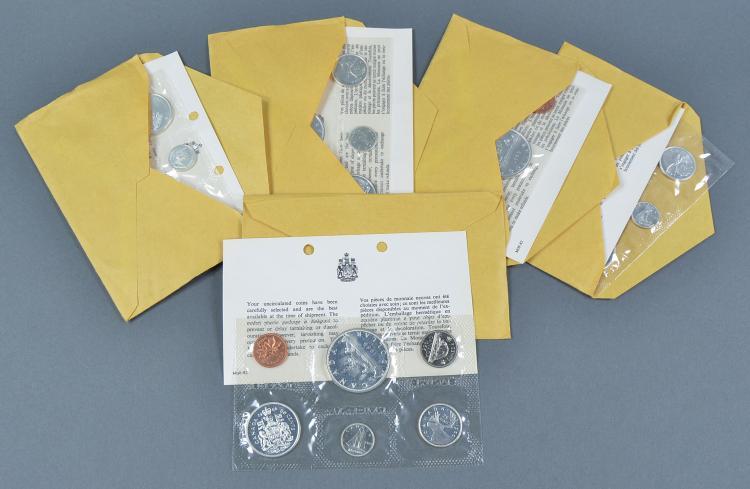 Five 1966 Canadian Mint Sets