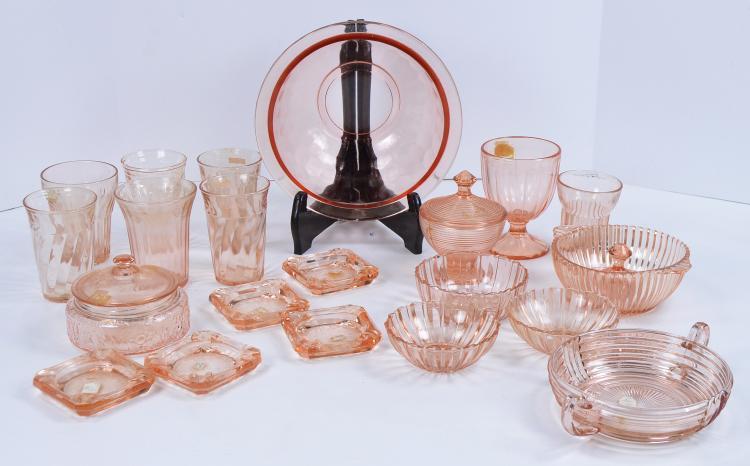 Bx Pink Depression Glass