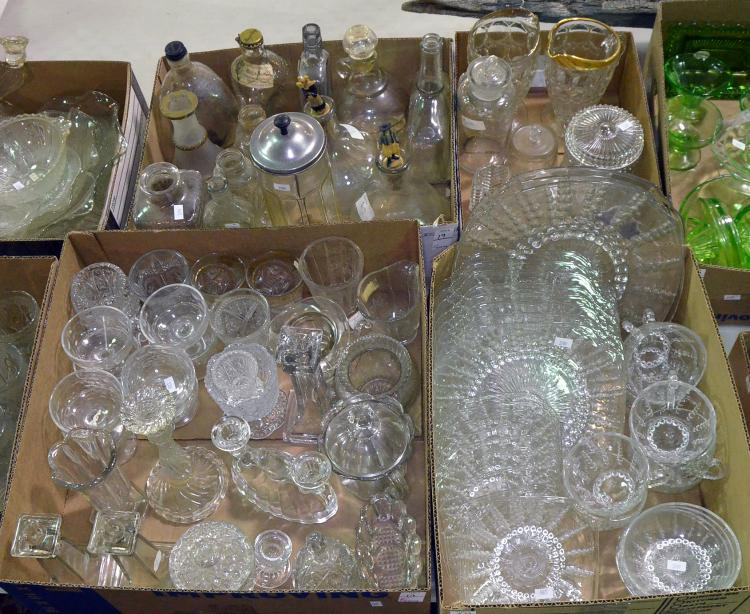 Four Bxs Clear Glassware