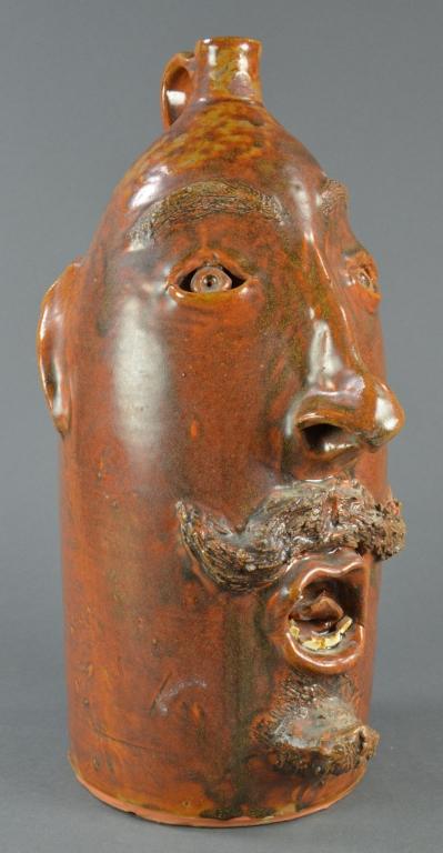 Brown's Pottery North Carolina Face Jug
