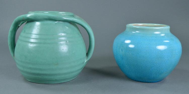 Two Vibrant North Carolina Pottery Pieces
