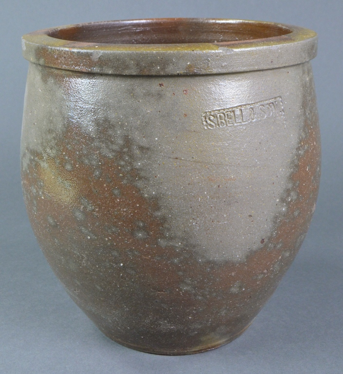 S. Bell & Son Virginia Grey Stoneware Crock