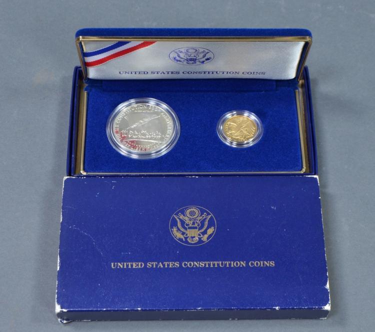 2 Coin Set U.S. Constitution