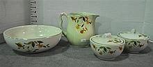 Bx Four Pieces of Jewel Teaware