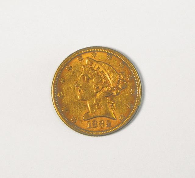 1882 Liberty $5 Gold Coin