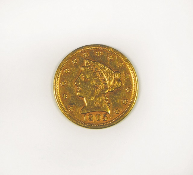 1905 Liberty 2 1/2 Dollar Gold Coin