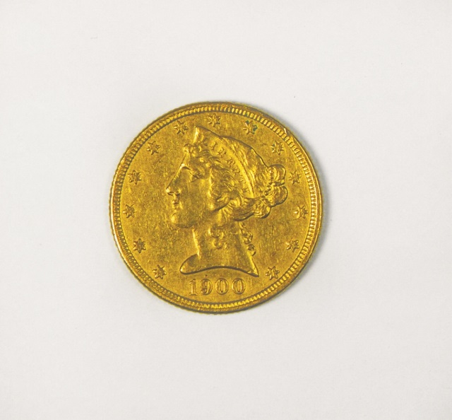 1900 Liberty $5 Gold Coin