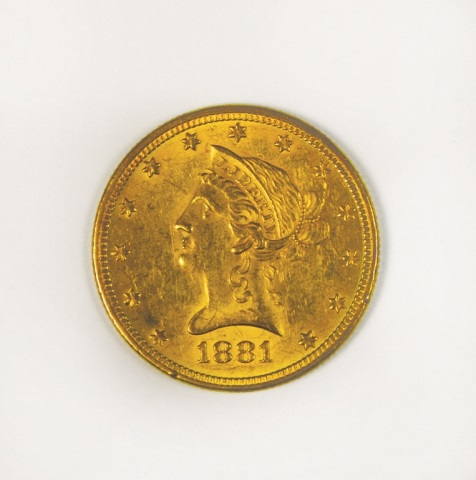 1881 Liberty $10 Gold Coin