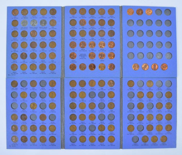 Partial Lincoln Cent Collection, 1909-1963