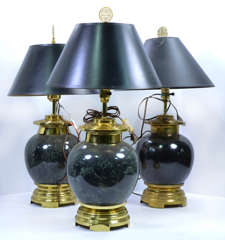 "Three ""Southwest"" Table Lamps"