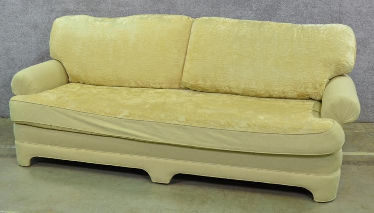 Tremendous Asian Style Sofa In Chinoiserie Yellow Silk Gmtry Best Dining Table And Chair Ideas Images Gmtryco